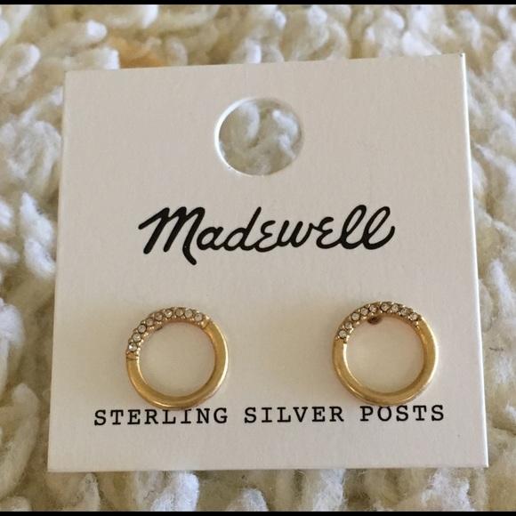 0511886d5 Madewell Jewelry | Pave Circle Stud Earrings | Poshmark